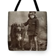 Child With Dog, C1885 Tote Bag