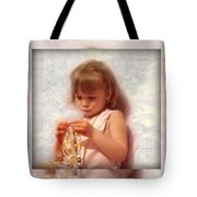 Child With Jewelry Tote Bag
