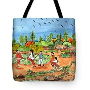 Childen At Play Tote Bag