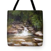 Cooling Creek Tote Bag by Melissa Herrin