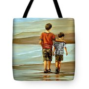 Childhood Shore Tote Bag