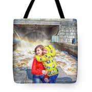 Children And A Rainbow Tote Bag
