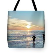 Children At Play On A Florida Beach  Tote Bag