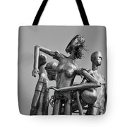 Children At Play Statue B W Tote Bag