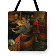 Children By The Piano Tote Bag