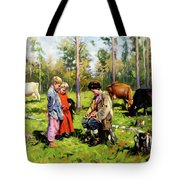 Children Of The Forest Tote Bag