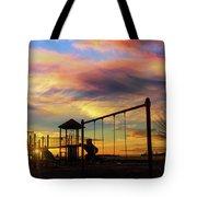 Children Playground At Sunset Tote Bag