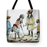 Children Playing Croquet Tote Bag by Granger