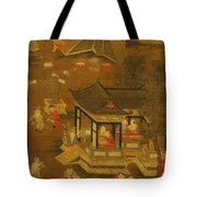 Children Playing In The Palace Garden Tote Bag