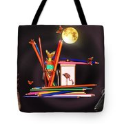 Children Playing With Colours Tote Bag