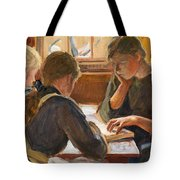 Children Reading Tote Bag