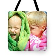Children Swimming Lessons Tote Bag