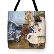 Children's Afternoon At Wargemont Tote Bag