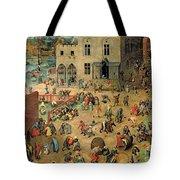Children's Games Tote Bag by Pieter the Elder Bruegel