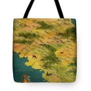 Chile And Argentina With The Magellan Strait Tote Bag