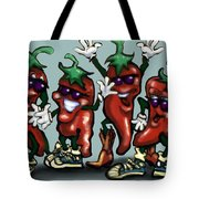 Chili Peppers Gang Tote Bag