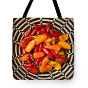 Chili Peppers In Basket  Tote Bag