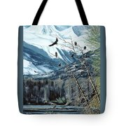 Chilkat River Eagles Tote Bag