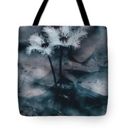Chilling Blue Lagoon Details Tote Bag