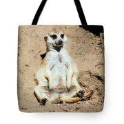Chilling Meerkat Tote Bag