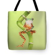 Chilling Tiger Leg Monkey Tree Frog Tote Bag