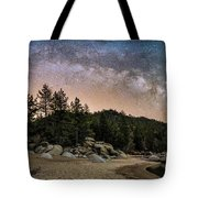 Chimney Beach With Milky Way Tote Bag