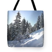 Chimney Gulch Trail In Winter Tote Bag