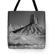 Chimney Rock In Black And White - Towaoc Colorado Tote Bag