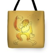 Chimp And Bug Tote Bag
