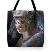 Chimpanzee Sitting Tote Bag