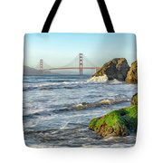 China Beach To The Golden Gate Tote Bag