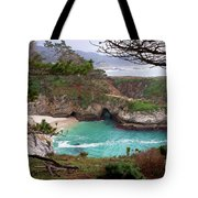China Cove At Point Lobos Tote Bag by Charlene Mitchell