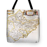 China: Fujian Map, 1662 Tote Bag