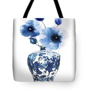 China Ming Vase With Flower Tote Bag