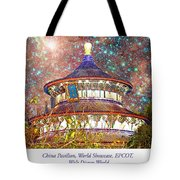 China Pavilion, World Showcase, Epcot, Walt Disney World Tote Bag