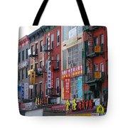 China Town Buildings Tote Bag