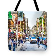 Chinatown In New York City 2 Tote Bag