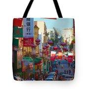 Chinatown Street Scene Tote Bag