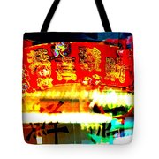 Chinatown Window Reflection 4 Tote Bag by Marianne Dow