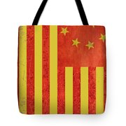 Chinese American Flag Vertical Tote Bag