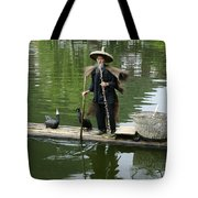 Chinese Cormorant Fisherman Tote Bag