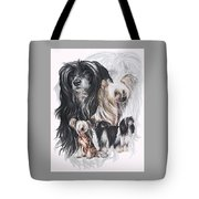 Chinese Crested And Powderpuff W/ghost Tote Bag