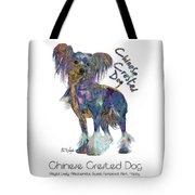 Chinese Crested Dog Pop Art Tote Bag