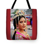 Chinese Cultural Fashion Girl Tote Bag