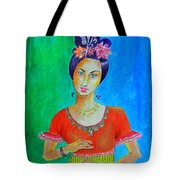Chinese Dancer -- The Original -- Portrait Of Asian Woman Tote Bag