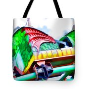 Chinese Dragon Ride 4 Tote Bag