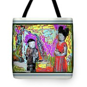 Chinese Figures Tote Bag
