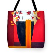 Chinese Flower On Vase Tote Bag