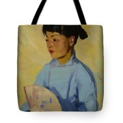 Chinese Girl With Fan 1914  Tote Bag