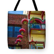 Chinese Lanterns Over Grant Street Tote Bag